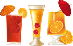 Tropical alcoholic cocktails Stock Photography