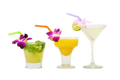 Tropical alcoholic cocktails Royalty Free Stock Images