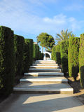 Tropical alley perspective with steps, Mallorca Royalty Free Stock Image