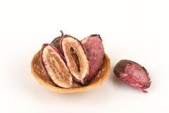 Tropical almond, Bengal almond, Indian almond, Sea almond, Beach almond (Terminalia catappa).seeds. Stock Image