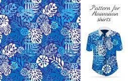 Tropical aloha pattern. Vector royalty free illustration