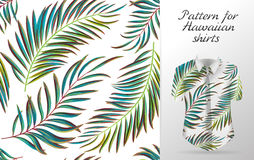 Tropical aloha pattern. Vector royalty free illustration