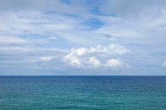 Tropical andaman sea with blue sky and clouds in summer season. Royalty Free Stock Photo
