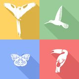 Tropical animals icons Royalty Free Stock Photos
