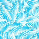 Tropical aqua leaves in a seamless pattern.  Royalty Free Stock Photo