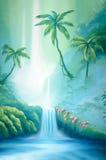 Tropical backdrop Stock Photo