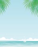 Tropical background royalty free illustration