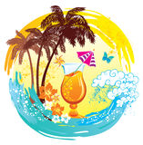 Tropical background. Royalty Free Stock Photography