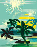 Tropical background Royalty Free Stock Photos