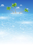 Tropical landscape by day Royalty Free Stock Image