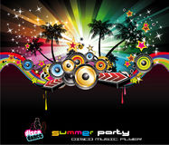 Tropical Background for Music Flyers vector illustration