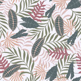 Tropical background with palm leaves. Royalty Free Stock Photo