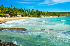 Tropical background - secret beach Stock Image