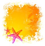 Tropical background with starfishes Royalty Free Stock Photos