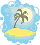 Tropical backgrounds. Vector illustration background Royalty Free Stock Images