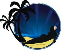 Tropical backgrounds vector illustration