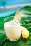 Tropical banana smoothie Royalty Free Stock Photos