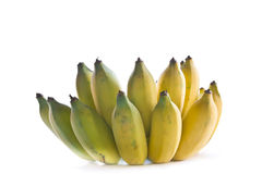 Tropical bananas. Are ripe on a white background Royalty Free Stock Photo