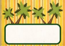 Tropical banner Royalty Free Stock Photography