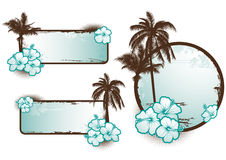 Tropical banners blue - vector Royalty Free Stock Image