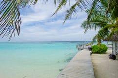 Tropical bar at Maldives Royalty Free Stock Images