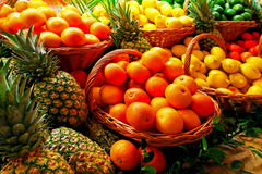 Tropical basket Royalty Free Stock Photo