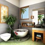Tropical bathroom stock photography