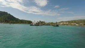 Tropical bay on ko phi phi island stock footage