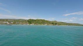 Tropical bay on ko phi phi island stock video