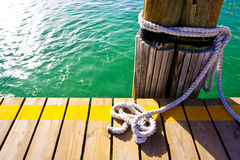 Tropical bay mooring Royalty Free Stock Photography