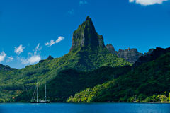 Tropical bay off Moorea Tahiti Stock Images