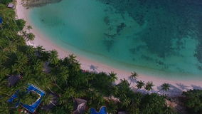 Tropical Bay on Samui island in Thailand, Aerial View stock footage