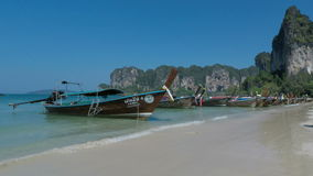 Tropical bay in southern thailand. Amazing beach in southern thailand stock footage