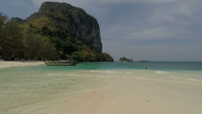 Tropical bay in southern thailand. Amazing beach in southern thailand stock video