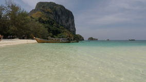 Tropical bay in southern thailand. Amazing beach in southern thailand stock video footage