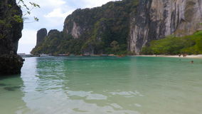 Tropical bay in thailand. Tropical beach scene from southern thailand stock video footage