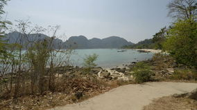 Tropical bay in thailand. Tropical beach scene from southern thailand stock video