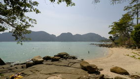 Tropical bay in thailand stock video