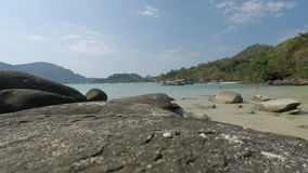 Tropical bay in thailand. Tropical beach scene from southern thailand stock footage