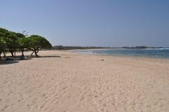 Tropical beach. Paradise beach on the Bali Island, Indonesia Royalty Free Stock Photography