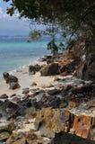 Tropical beach. On the paradise beach, Malaysia, Indonesia Royalty Free Stock Photo