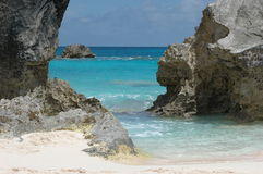 Tropical beach. The tropical Bermuda beach of Horseshoe Bay Royalty Free Stock Photography