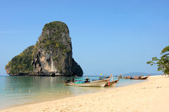 Tropical beach. Phra Nang Beach, Krabi, Thailand Royalty Free Stock Images