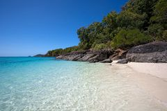Whitsunday Island beach. Scenic view of Whitehaven beach on Whitsunday Island, Central Queensland, Australia Stock Image