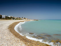 Tropical beach. Isolated tropical beach in spain Royalty Free Stock Images
