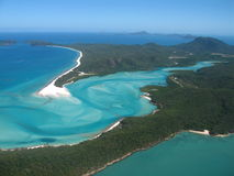 Tropical beach. Near Hamilton Island, Australia and the Great Barrier Reef Stock Images