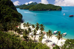 Tropical beach. View from a above of a tropical beach in Thailand, image was taken in the 42 island area Stock Photography