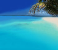 Tropical Beach. Atoll Islands with Tropical Beach Stock Photos