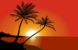 Tropical beach. At sunset - Thailand Stock Photography