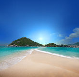 Tropical Beach. Nang Yuan - Atoll Island with Tropical Beach, near Koh Tao in Thailand Stock Photography